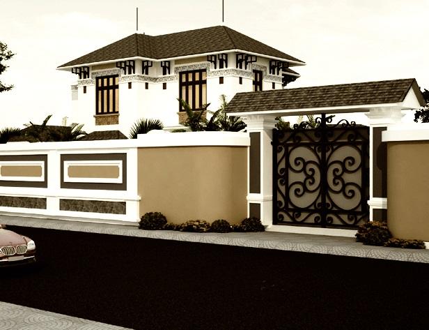 mẫu cổng hàng rào 6