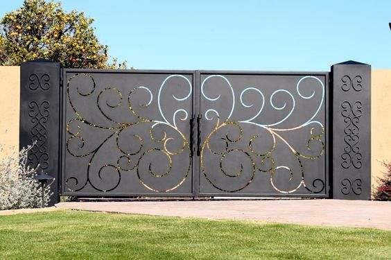 mẫu cổng hàng rào 9