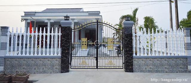 Mẫu hàng rào trụ tháp cho biệt thự