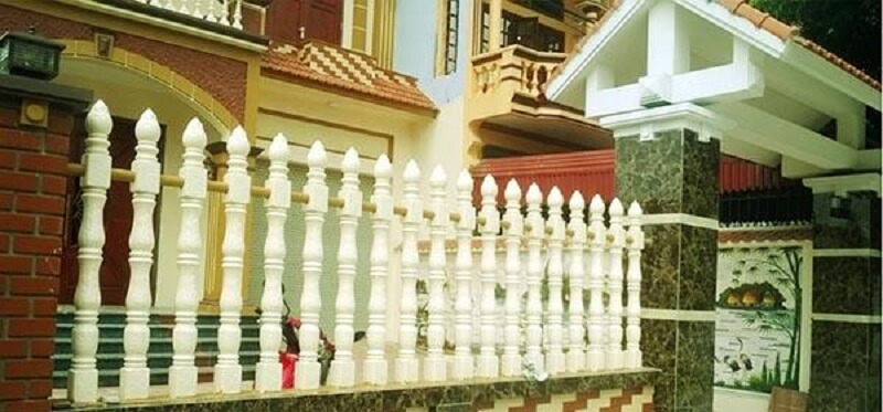 hàng rào trúc sen cho biệt thự