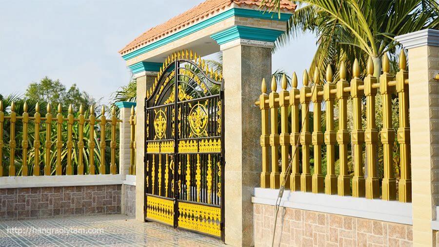 hàng rào vệ binh 1 lỗ cho biệt thự