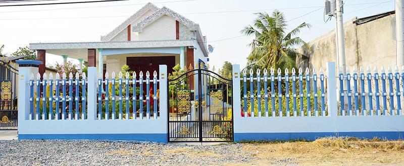 hàng rào vệ binh cho nhà cấp 4