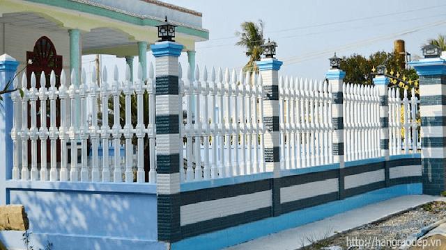 Hàng rào vệ binh 2 lỗ cho nhà ở sang trọng