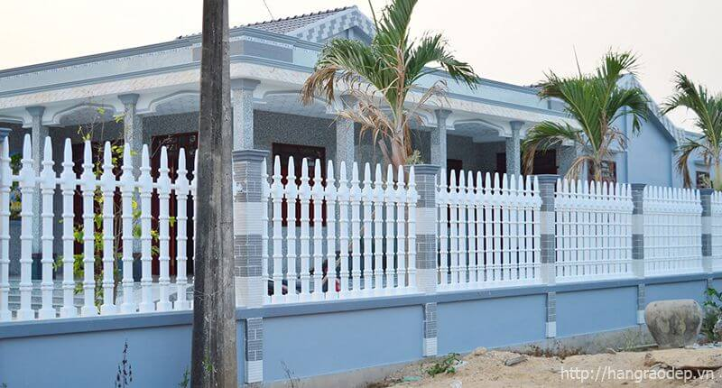 Hàng rào trụ tháp cho nhà cấp 4