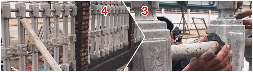 Quy trình lắp đặt hàng rào