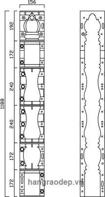 thông số kỹ thuật hàng rào trúc sen