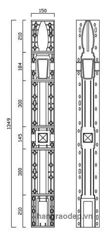 thông số kỹ thuật rào vệ binh 1 lỗ