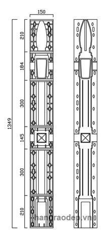 Thông số kỹ thuật rào vệ binh 2 lỗ