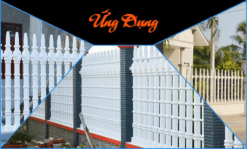 Ứng dụng hàng rào bê tông ly tâm
