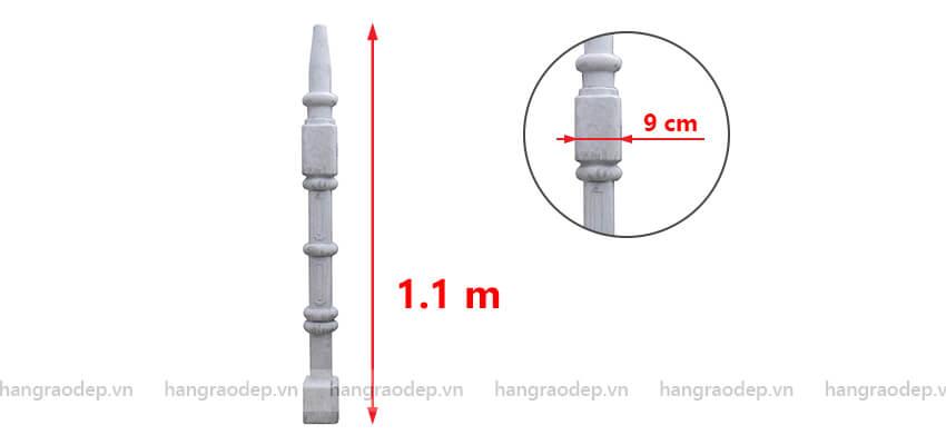 mô tả hàng rào trụ thap 3 đốt