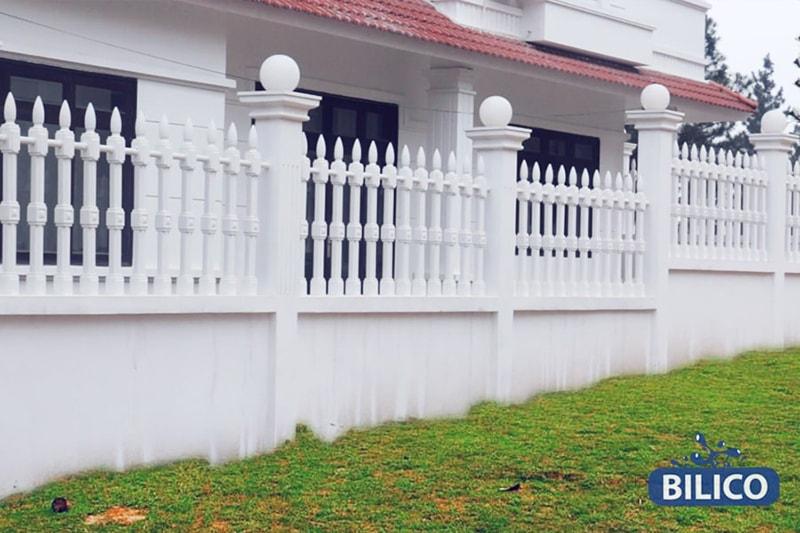 hàng rào vệ binh 1 lỗ biệt thự